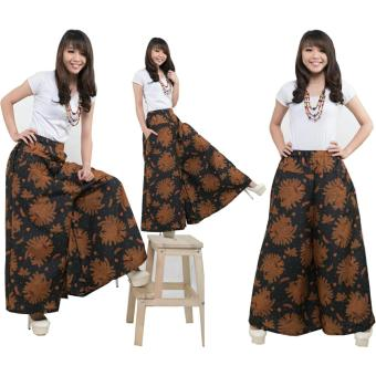 168 Collection Celana Kulot Rok Shanty Batik Long Pant-Coklat