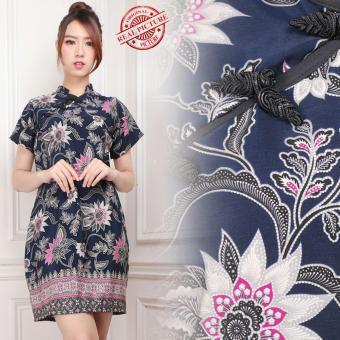 168 Collection Midi Dress Batik Yichang Short Dress Wanita