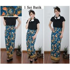 168 Collection Rok Maxi Lilit Batik Alina Rok Panjang Wanita .