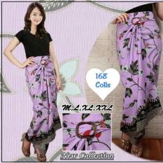 168 Collection Rok Maxi Lilit Purple Leaf Batik-Ungu
