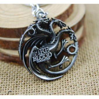 1pcs Movie Key Chain Game of Thrones Family Badge Keychain Men GiftKey Chain Key Holder - intl