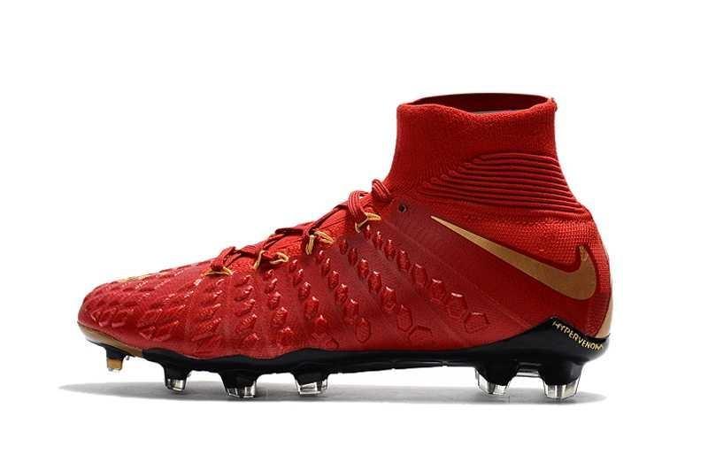 ... 2017 New Mens High Ankle Football Boots Red Hypervenom Phantom IIIDF FG Soccer Cleat Hypervenom Phantom ...