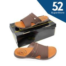52 Fashion Pakalolo Boots Sandal Selop Casual Pria 01253 A - Coklat Size 42-44