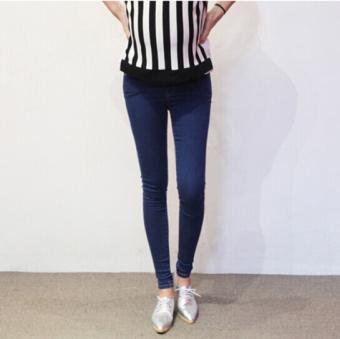 923# Pants Denim Jeans Baju Hamil ABS - 2