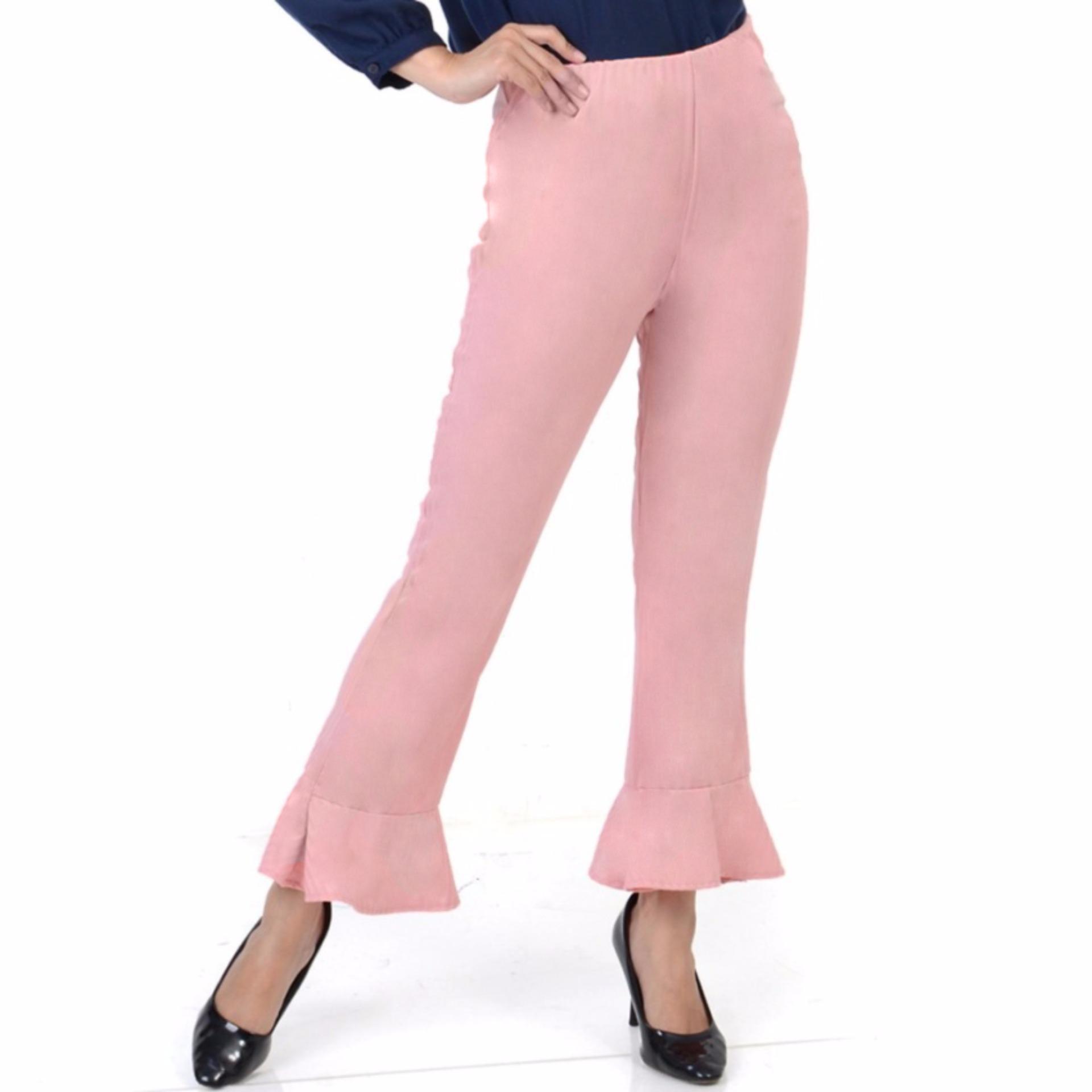 Ace Fashion Axel Cullote Pants Celana Kulot Wanita Pink Daftar Midi Nda Fjn822b