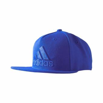 ADIDAS Topi Flat Cap Logo - S97606 - Biru