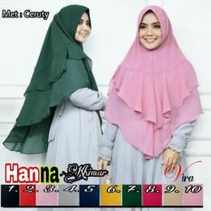 Adzra Jilbab Khimar 2 layer (Hanna)