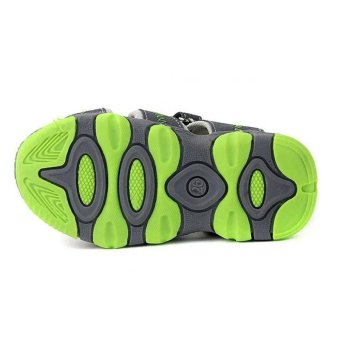 Ai Home Children Velcro Beach Shoes Sports Sandals Water Shoes(Green+Grey) - intl - 4