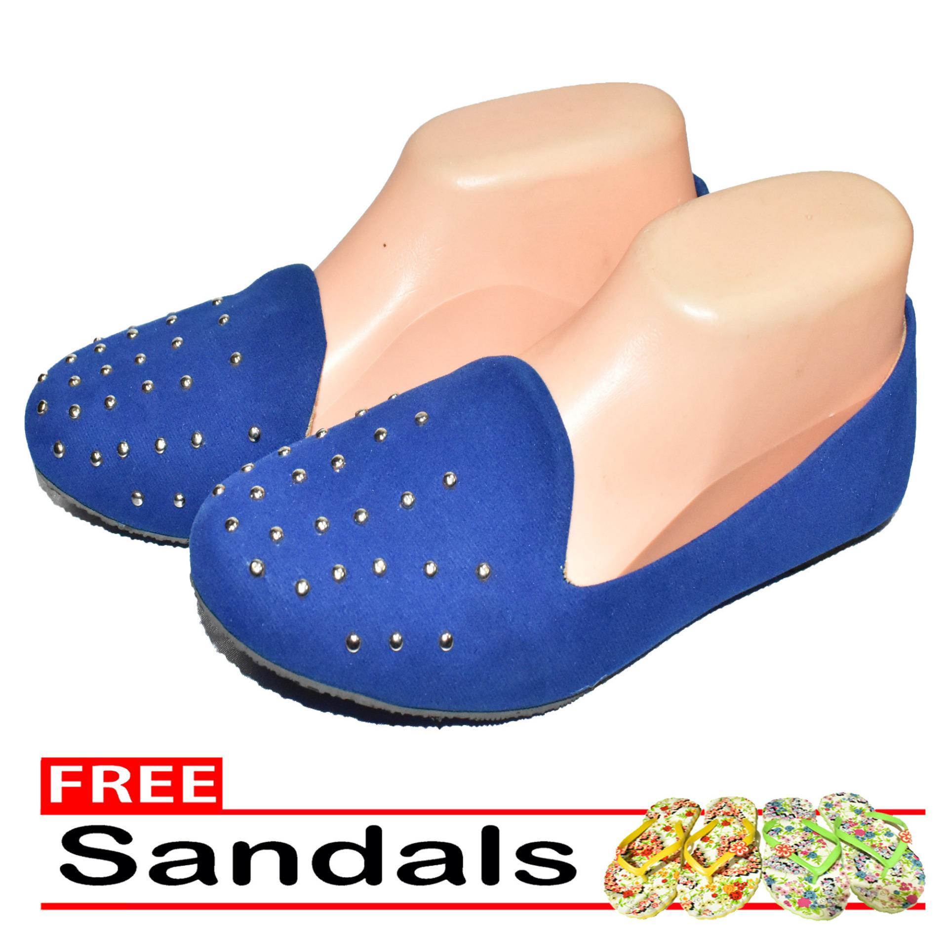 Aintan Flat Shoes Develop 29- Sepatu Balet - biru Free Sandals .