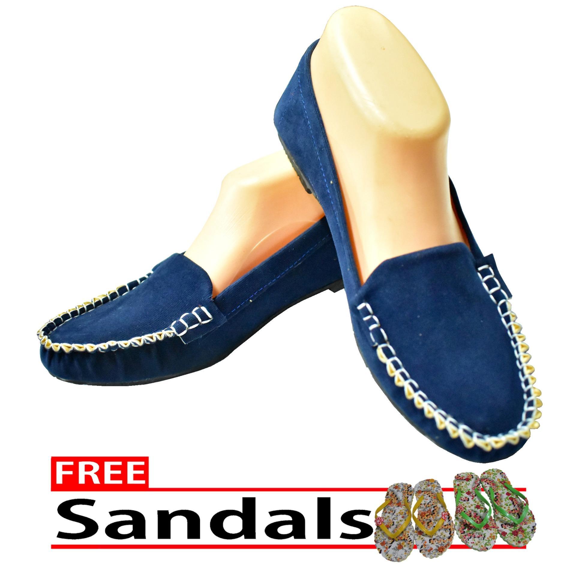 Aintan Flat Shoes NS 02- Sepatu Balet - Biru Free Sandals .