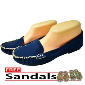 Aintan Flat Shoes NS 02 Sepatu Balet Biru Free Sandals 5 .