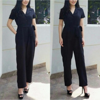 AK - Long Jamsuit Nita - Black Akiko fashion