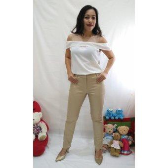 ALANA Chino Khaki Pants Wanita - Khaki - 2