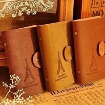 ALFATI_236 - Dompet Kulit Kartu Nama Motif Paris / Wallet Card Guard Organizer 24 Card Leather