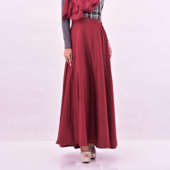 Almira Rok Panjang Wanita Diandra Maroon - 3