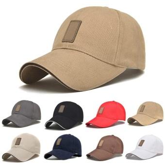Amart Fashion Korea sederhana topi Snapback bisbol pria kasual dapat disesuaikan (Khaki) - 3