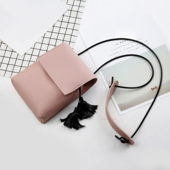 Amart Fashion Korea tas bahu Mini kecil untuk wanita dengan rumbai tas  kurir selempang tas kulit 9eb8628dcf