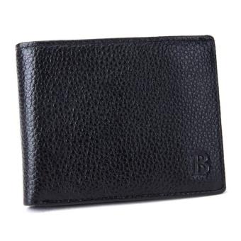 Amart Fashion Korea Pria Dompet Kulit Asli dengan COIN POCKET Tipis Dompet Kartu Pemegang Dompet-