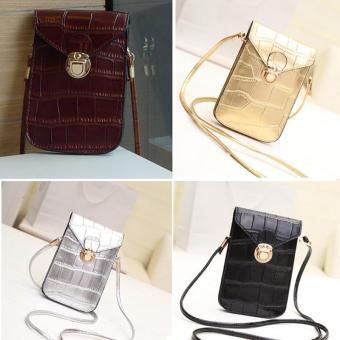 Amart fashion tas dompet tas bahu tas kurir tas gendong tas selempang mini kulit PU untuk wanita - 3