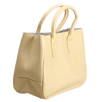 Amart Fashion Women Classy Handbag Soft Totes Shoulder Bag Light Yellow - intl