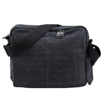 Amart Korean Canvas Mens ShoulderBag Handbag Crossbody Messenger Sling Bags(Black) - intl - 4