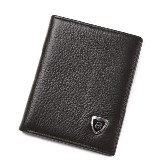 Amart Fashion Korea Pria Kecil Dompet Kulit Asli Ultra Tipis Dompet Mini Uang Pemegang Kartu Dompet