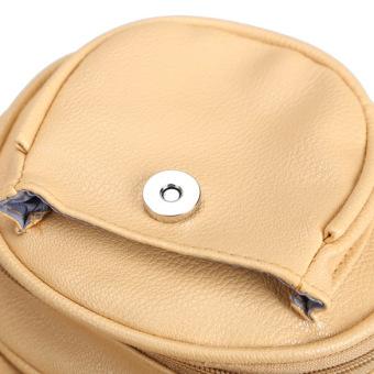 Amart kulit wanita Vintage Retro Mini tas tangan bahu tas Crossbody- Internasional - 5