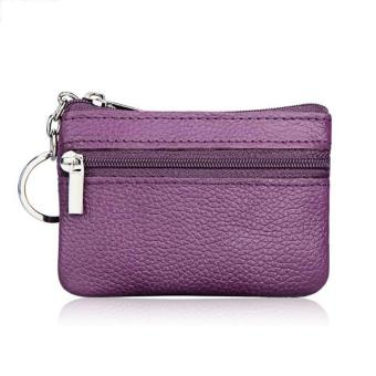Amart Mini Pouch Zipper Coin Purses Women's Small Change Money Bags Pocket Wallets Key Holder Case (Purple) - intl
