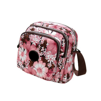 Amart Oxford Printing Crossbody Shoulder Bags Ladies Handbags(Pink Flowers) - Intl