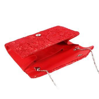 Amart tas genggam pesta pernikahan wanita mewah berenda bunga wadah amplop  dompet Bolsas . 18a87cf5bd