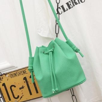 Amart tas tangan wanita tas selempang kurir bahu kulit PU berbentuk ember  kecil 0877ae9899