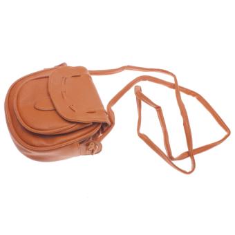 ... leegoal wanita butik tas bahu kulit PU atas pegangan tas jinjing Hot Pink