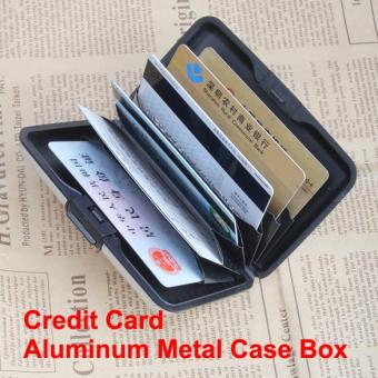Amart Waterproof Business ID Name Credit Card Wallet Holder Aluminum Metal Case Box - intl