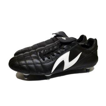 Amazaki Gigas Black White Bola - Sepatu Bola Pul Besi
