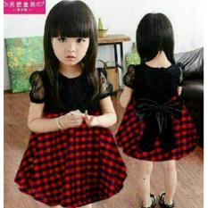 Anami Fashion Pakaian Anak Perempuan - Dress Shanshan Square RedIDR69600. Rp 69.700