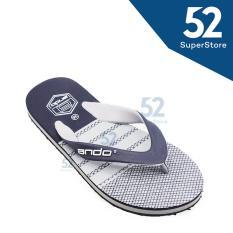 Ando Sandal Jepit/Flip Flop Pria Super Grand 08 - Navy/Grey Size 38