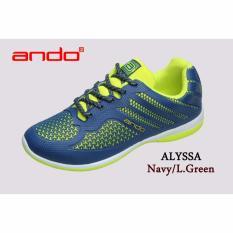 Ando - Sepatu Alyssa Navy L.Green