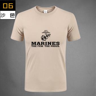 346edb53b2b62 Beli Angkatan Laut Katun Lengan Pendek Tidak Pudar T-shirt (Korps Marinir  lumpur) (Korps Marinir lumpur) Terpercaya