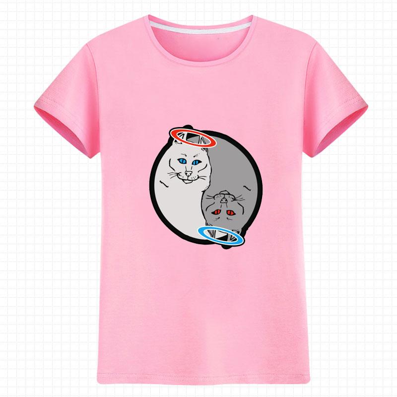 Animasi Zhou Bian lucu katun pria dan wanita beberapa t-shirt t-shirt (