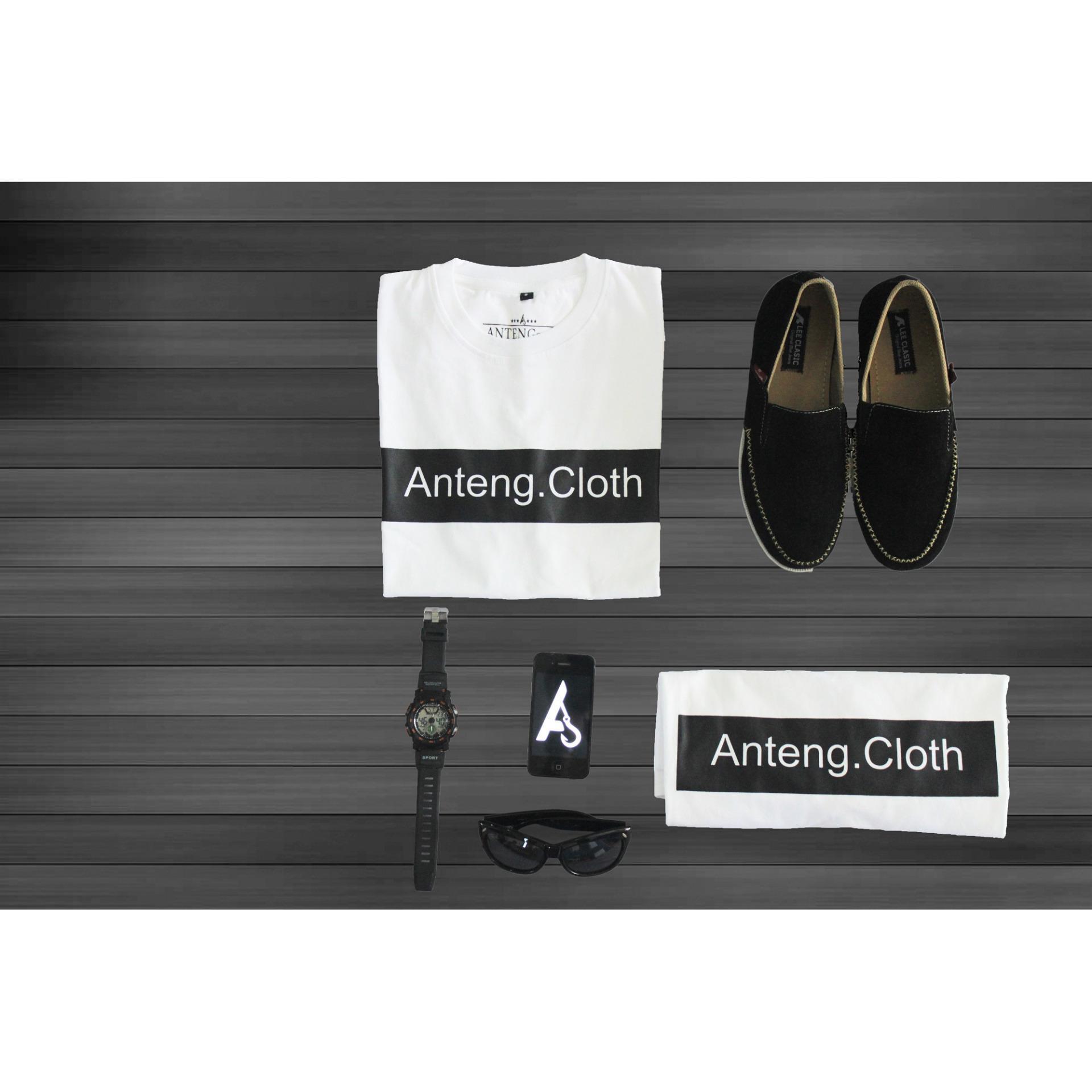 Antengcloth/T Shirt Shortsleeve Pria&Wanita/Kaos Lengan Pendek Cotton .