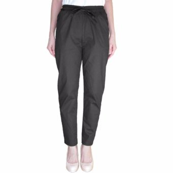 Harga Arena Belanja plus size drawstring pants black