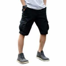 Arfi celana cargo pendek hitam