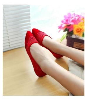 Arlaine Angel Flat Shoes [Red]