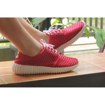 Harga Arlaine Downy Sneakers Shoes [Red]