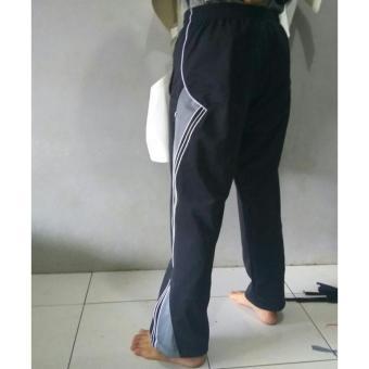 arsy collections celana training model lis 3 hitam abu - 3 .