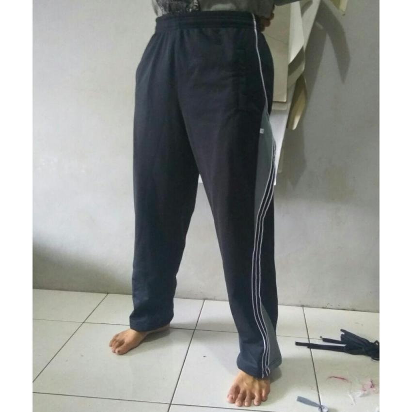arsy collections celana training model lis 3 hitam abu