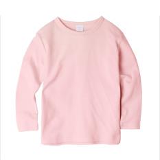 Augelute Musim Semi Dan Musim Gugur Lengan Panjang Katun Polos Leher Bulat T-shirt T