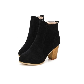 Autumn Winter Boots With High Heels Boots Shoes Martin Boots Women Ankle - intl