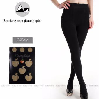 Auzu - Stocking pantyhose apple 120 denier stocking celana cream / beige tebal