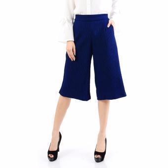 Ayako Fashion Cullote Pants Pixie - Celana Kulot Wanita Pixie - (Blue)